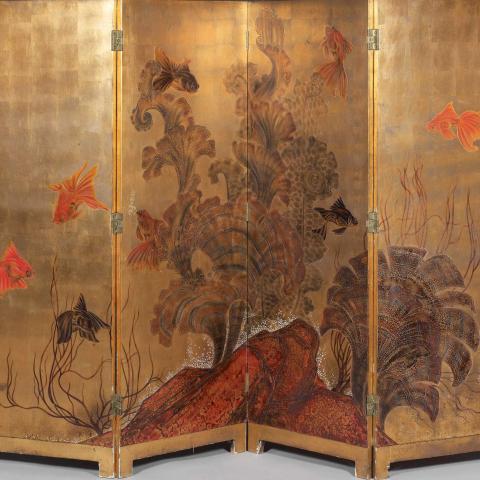 Poissons japonais dans les Gorgones.